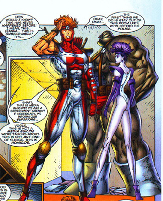 Careful study of Rob Liefeld's work is highly beneficial to the aspiring comics artist. Just do the opposite of everything he does, and you can't miss.